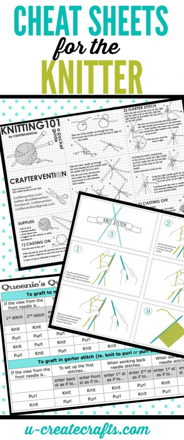 Cheat Sheets for the Knitter - tons of helpful tips and tricks!
