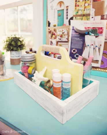 DIY Craft Caddy by Crafts by Courtney