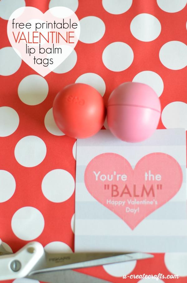 Free Printable Valentine Lip Balm Tags by u-createcrafts.com