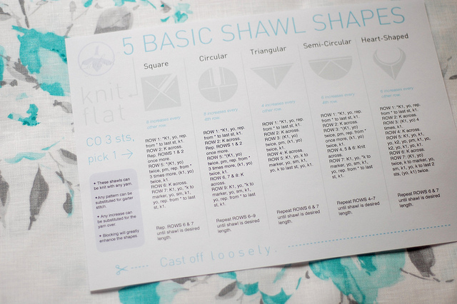 5 Basic Shawl Shapes by Laylock