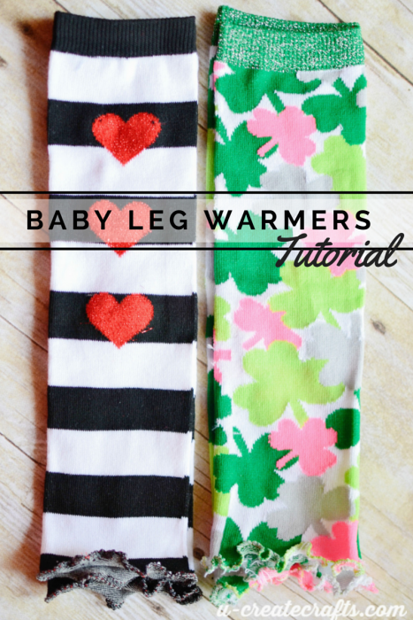 Baby Leg Warmers tutorial at u-createcrafts.com