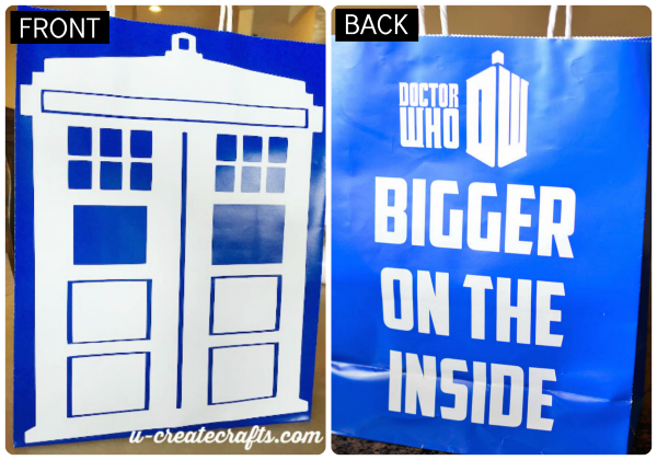 Doctor Who TARDIS gift bag