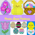 Easter Perler Bead Patterns for Kids - great for stitching patterns, too!