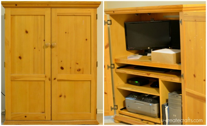 31 Days of Color Challenge - Computer Armoire into Craft Armoire