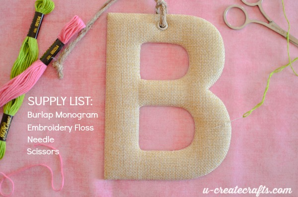 Monogram stitching supplies