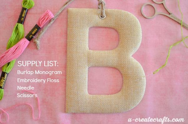 Monogram stitching supplies
