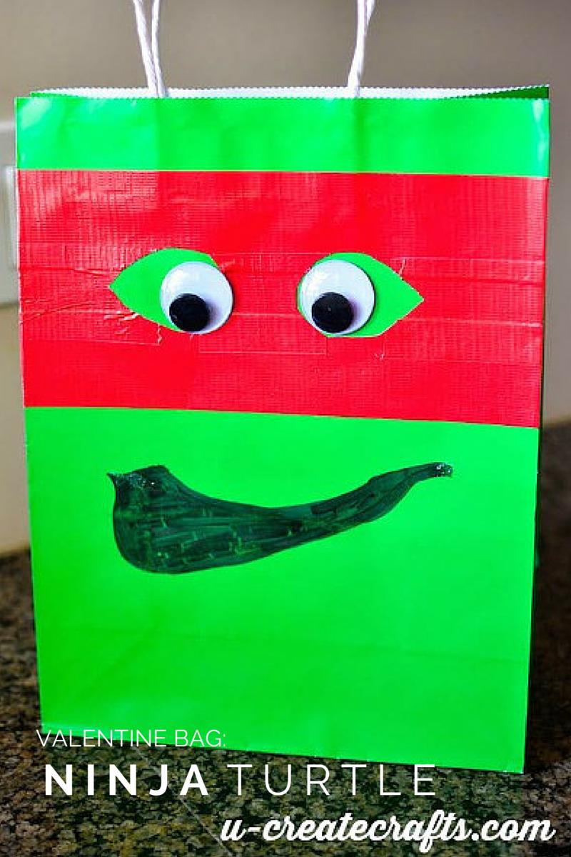 Last Minute Ninja Turtle Valentine Bag