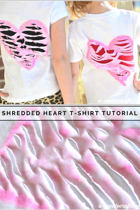 Shredded T-shirt at u-createcrafts.com