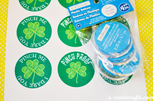 St Paddy's Printable pin