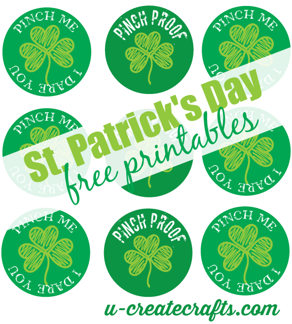 St Patricks Day printables at u-createcrafts.com