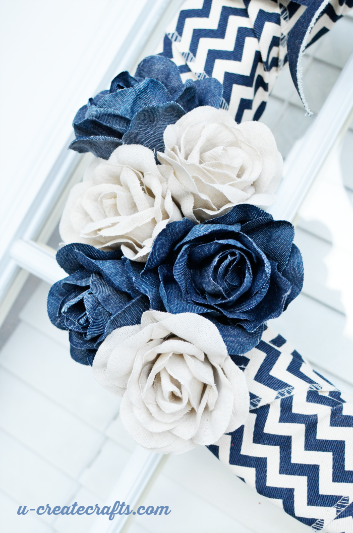 How to Make a denim wreath by U Create