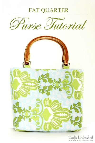 Fat Quarter Purse Tutorial by Crafts Unleashed