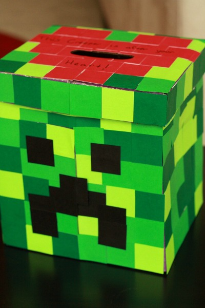 Revered image throughout minecraft valentine box printable