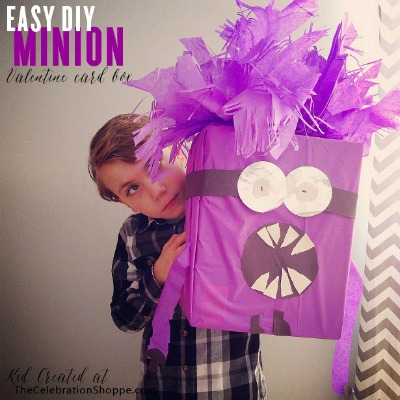 Purple Minion Valentine Box Tutorial by Celebration Shoppe