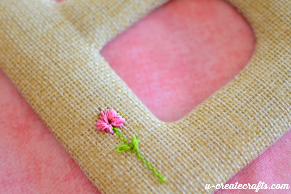 stitching a simple flower