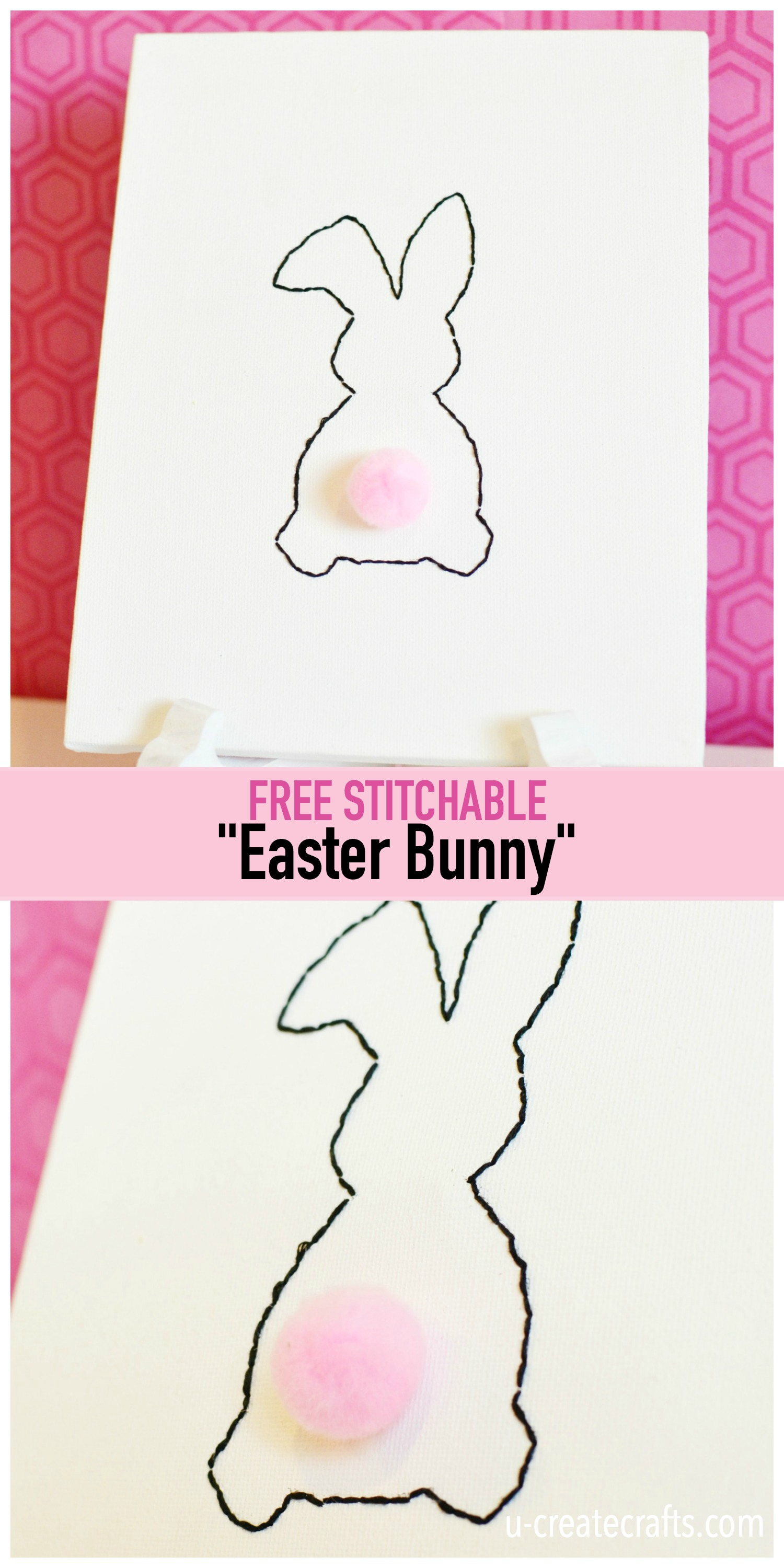 Free Stitchable: Easter Bunny - fun project for the kids!