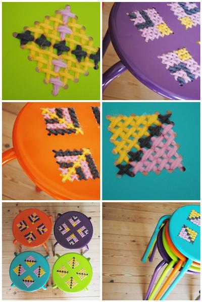 Cross stitch stools aalerusen