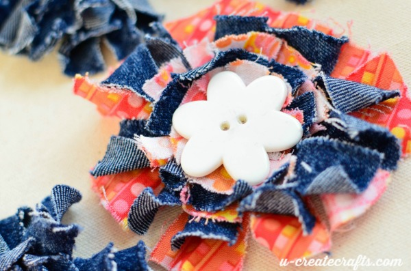 Fabric and Denim hairbows