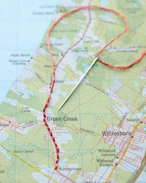 Map stitching Martha Stewart
