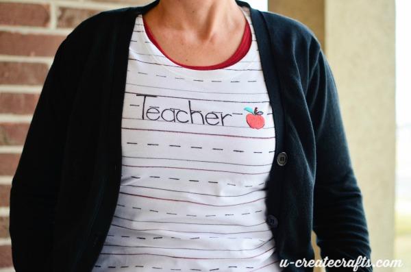 Teacher T-shirt at U-createcrafts