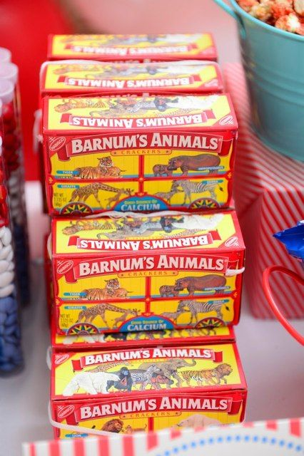 Animal Crackers - many The Greatest Showman party ideas!