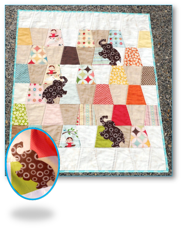 Elephant Baby Quilt Tutorial by Happy Dance Quilting