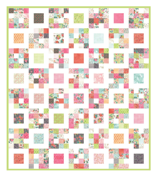 Four Squared Quilt Pattern Tutorial by Aunt Polly's Porch