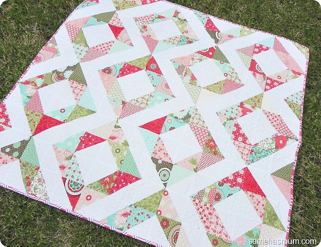 Fresh Diamonds Quilt Pattern by Samelia's Mum