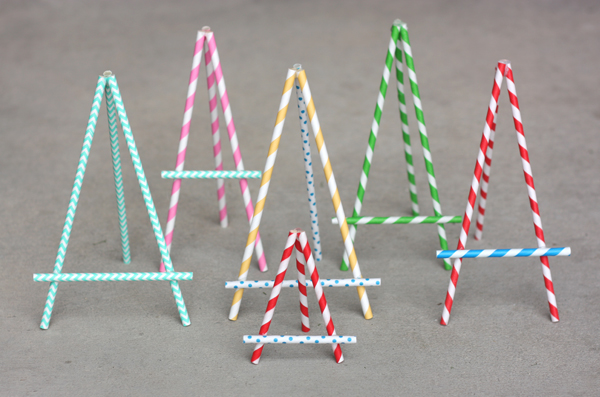 Paper Straw Easel Tutorial