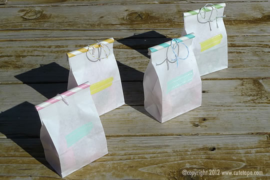 Paper Straw Bags by Cute Tape