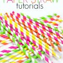 Amazing Paper Straw Craft Tutorials at U Create