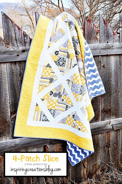 Patch Slice Quilt Tutorial by Inspiring Creations
