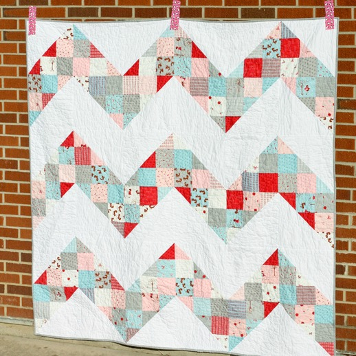 Patchwork Chevron Quilt Tutorial by Jeni Baker