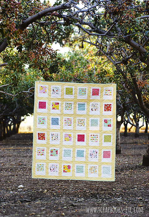 Polaroid Quilt Tutorial at Scrapbooks, etc.