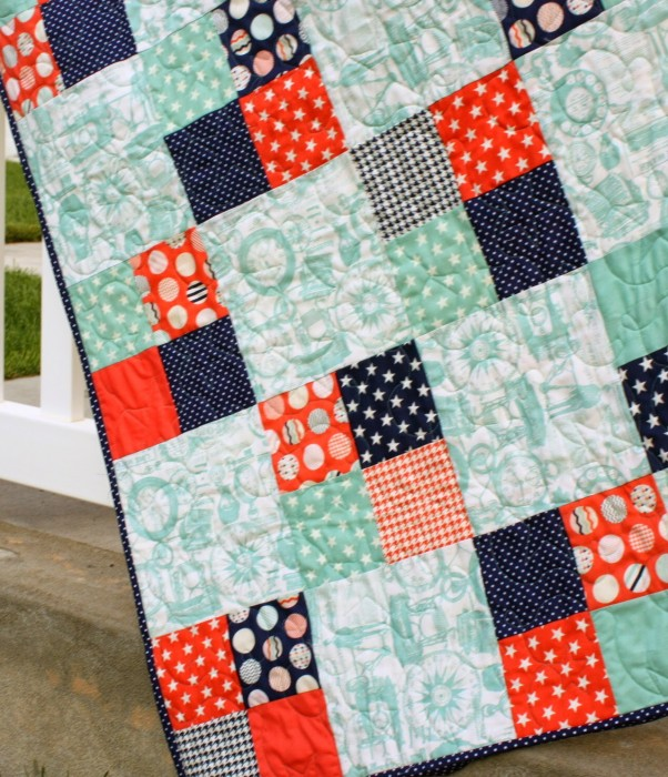 Fast Four Patch Quilt Tutorial at Riley Blake Designs