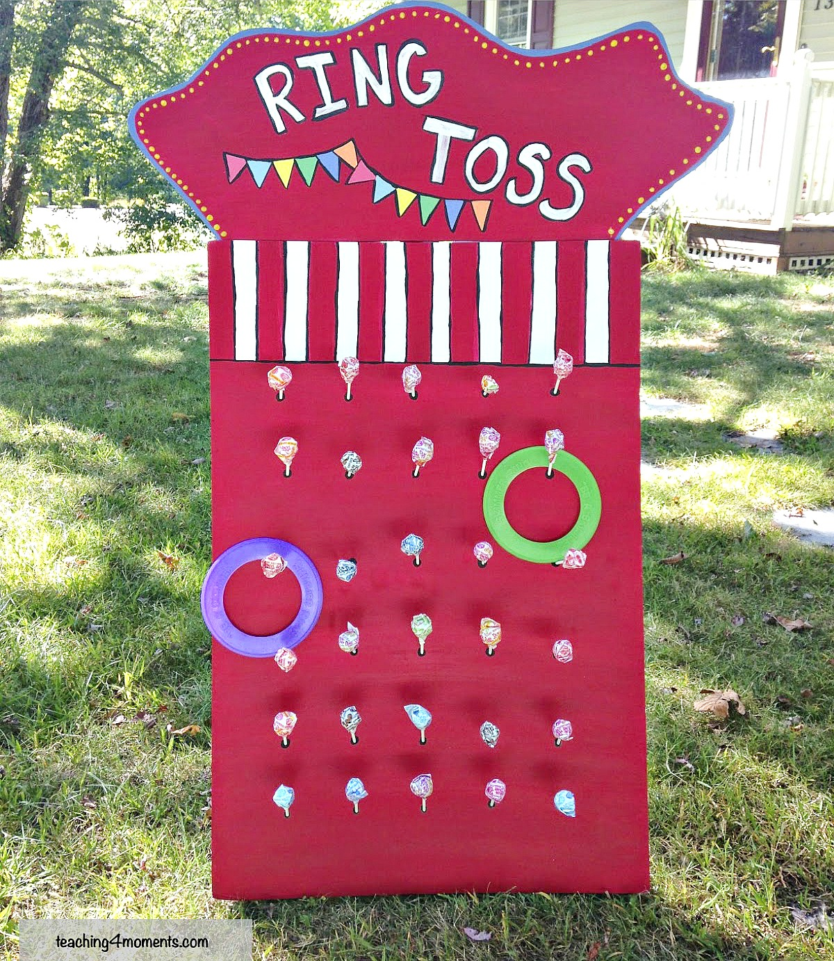 DIY Ring Toss Game - many other circus party ideas!