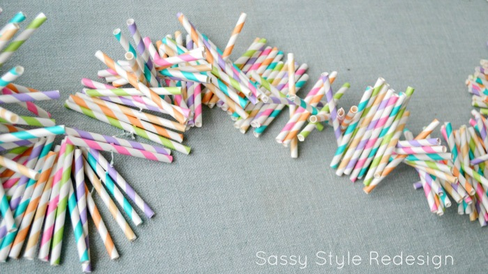 Straw Garland Tutorial by Sassy Style Redesign