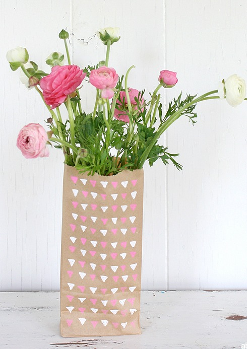 1 paper bag vase