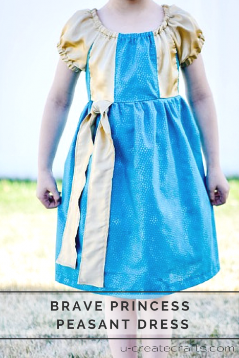 Brave Princess Peasant Dress at u-createcrafts.com