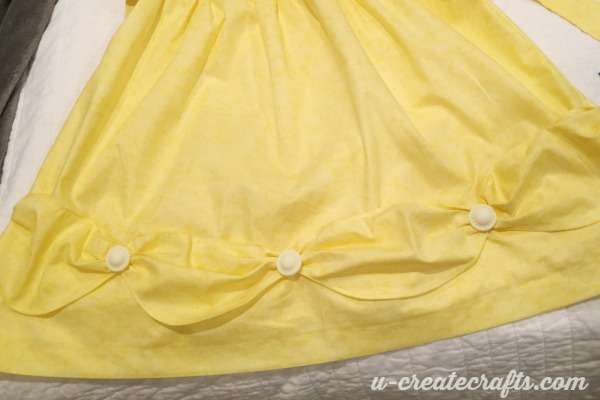 Buttons on Belle's Dress