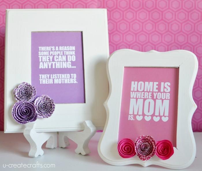 DIY Mother\'s Day Frames - U Create