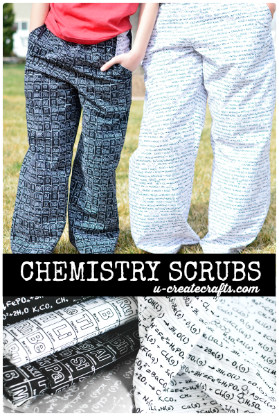 Chemistry scrubs at u-createcrafts.com