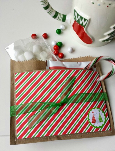 Christmas neighbor Gift with Brown Paper Bags