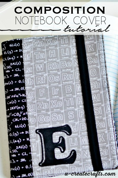 Composition Book Cover at u-createcrafts.com