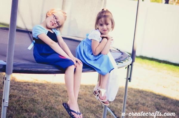 Enjoying their dresses