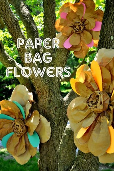 HUGE paper bag flowers