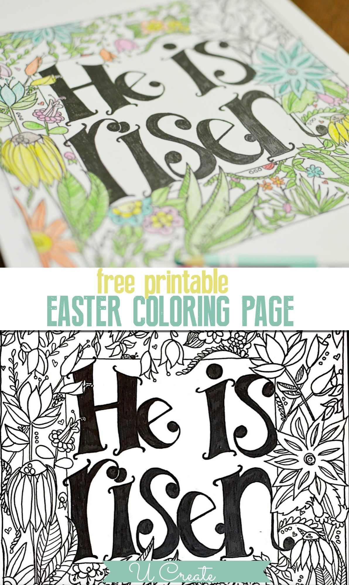 he is risen coloring pages He is Risen Coloring Page   U Create he is risen coloring pages