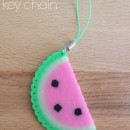 Watermelon Perler Bead Keychain Tutorial by Twin Dragonfly Designs
