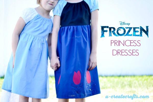 Simple Frozen Princess Dresses BRIGHT (1)