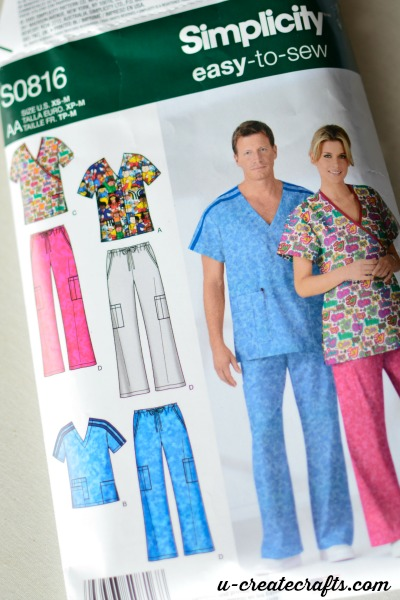 Simplicity Pattern S0816 for scrubs